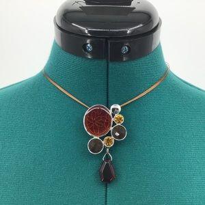 Lia Sophia Spiced Pendant Necklace 33N44